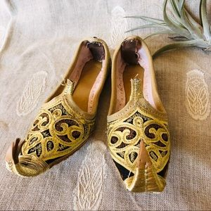 Vintage Handmade Embroidered Shoes